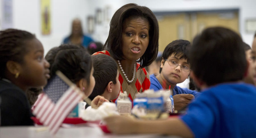 Michelle Obama and Students