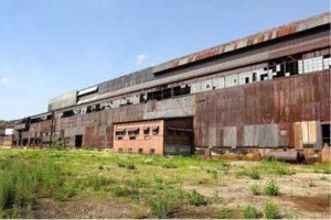 Shuttered factory