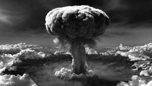 Hiroshima nuclear fallout mushroom cloud
