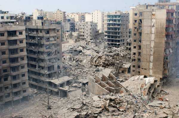 Bombed out building in Iraq