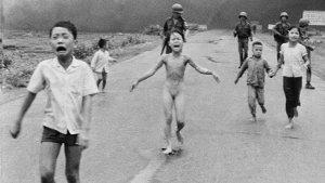 Naked girl fleeing in the Vietnam War