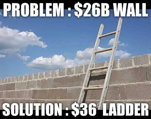 Problem: $26 billion wall. Solution: $36 ladder.