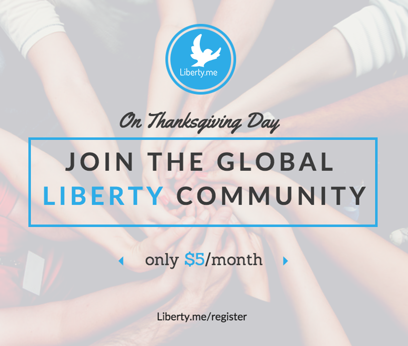 Liberty.me Thanksgiving Special